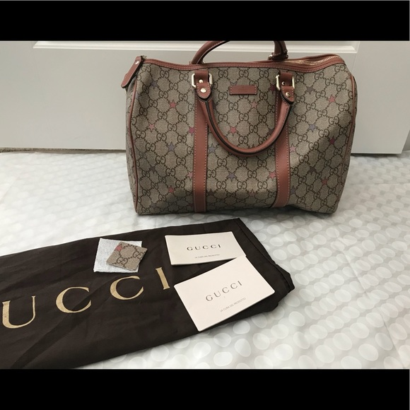 aac3bfeee Gucci Bags | Joy Gg Supreme Stars Canvas Boston Bag | Poshmark